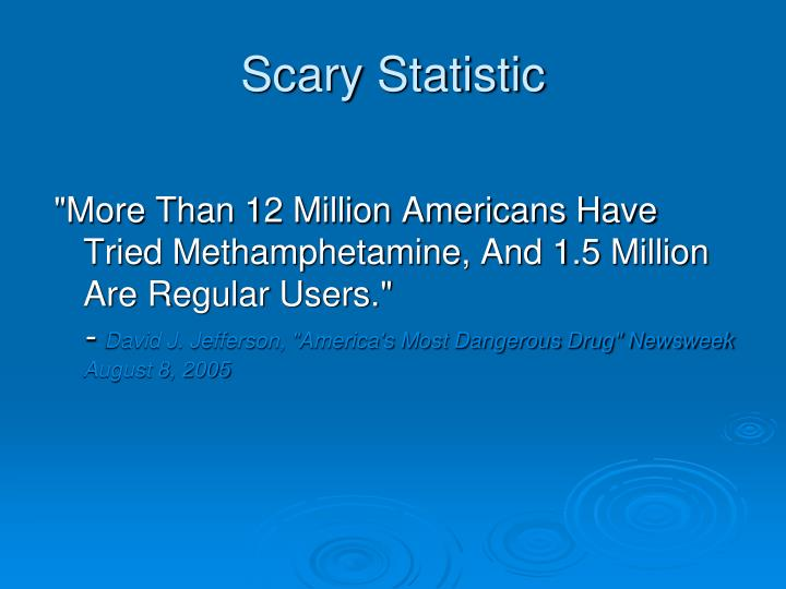 Scary Statistic