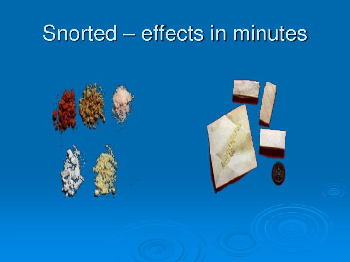 Snorted – effects in minutes