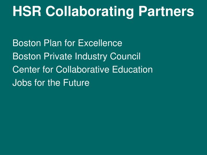 HSR Collaborating Partners