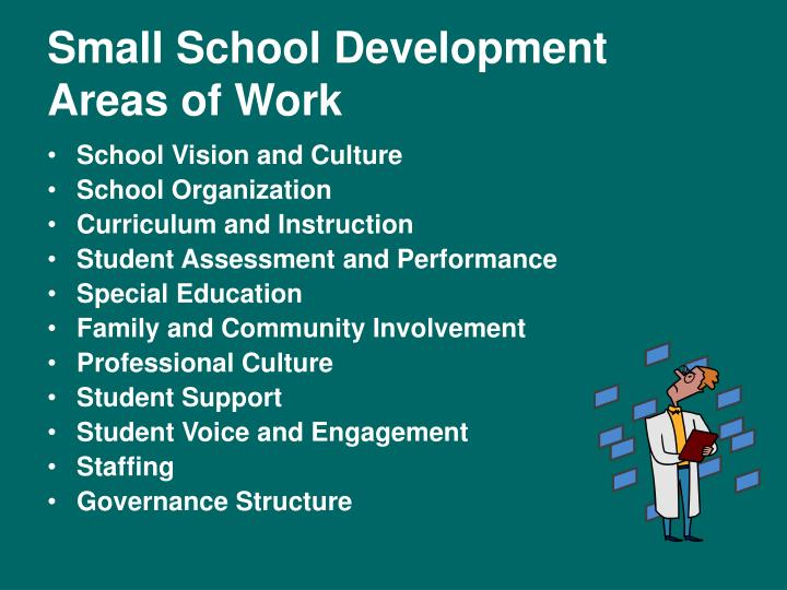 Small School Development Areas of Work
