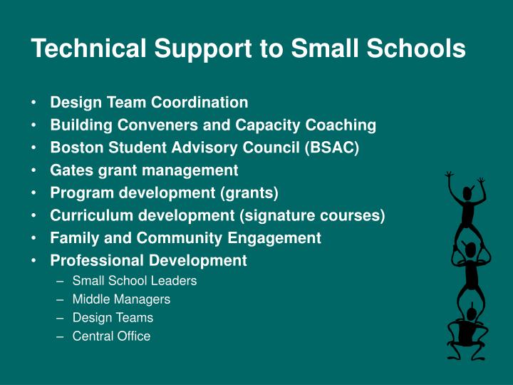 Technical Support to Small Schools