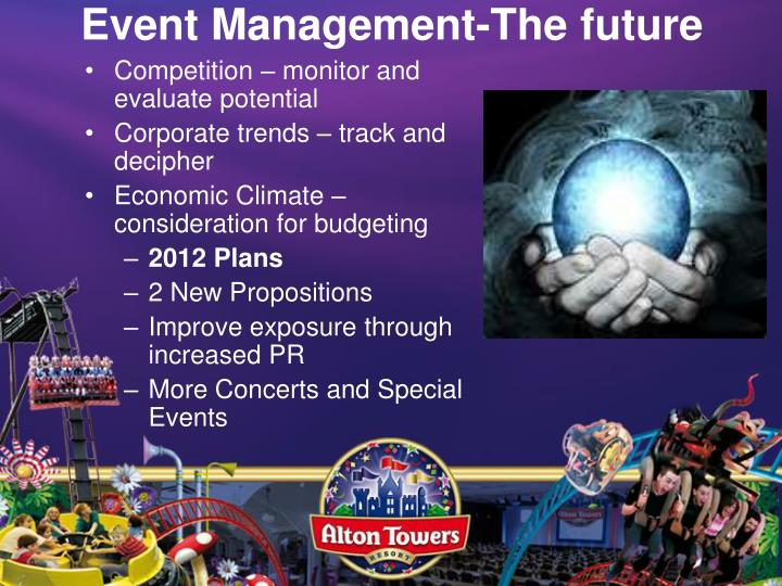 Event Management-The future