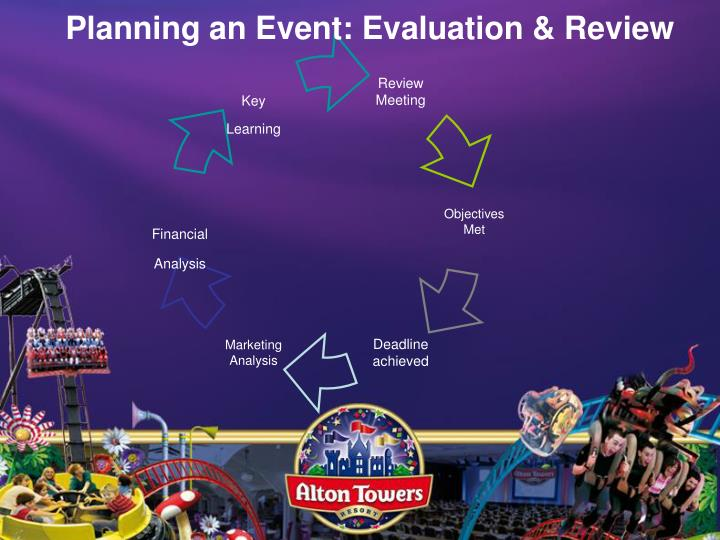 Planning an Event: Evaluation & Review