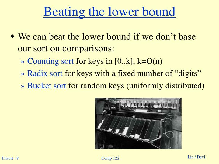 Beating the lower bound