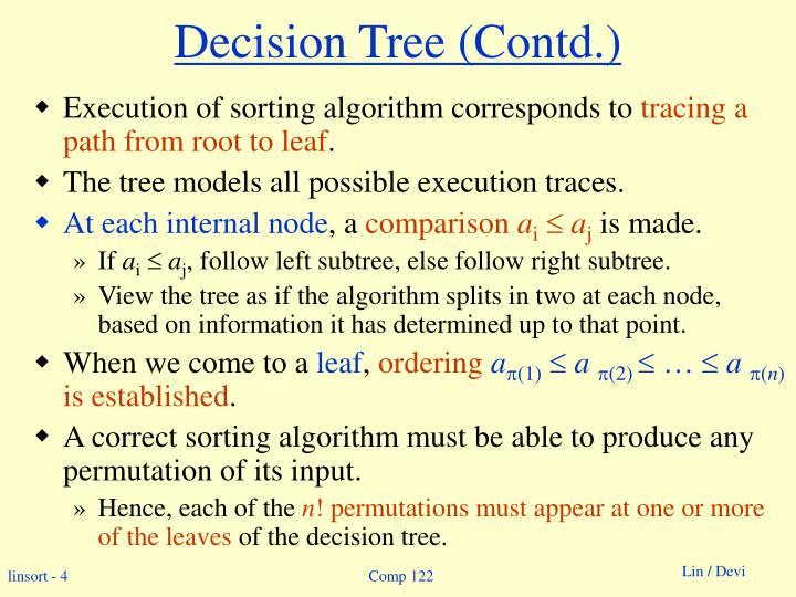 Decision Tree (Contd.)