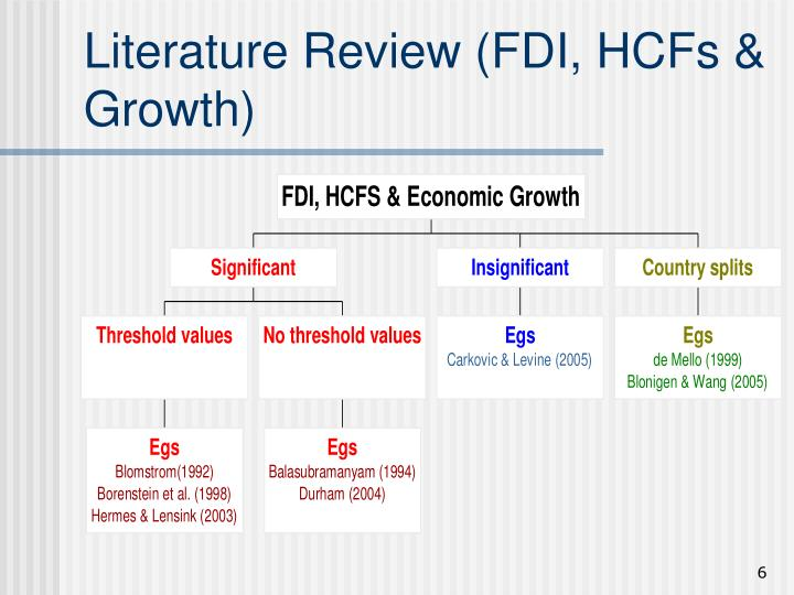 Literature Review (FDI, HCFs & Growth)