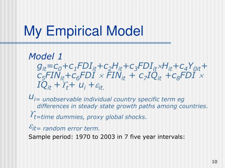 My Empirical Model