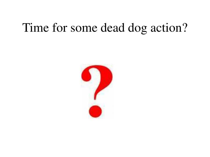 Time for some dead dog action?