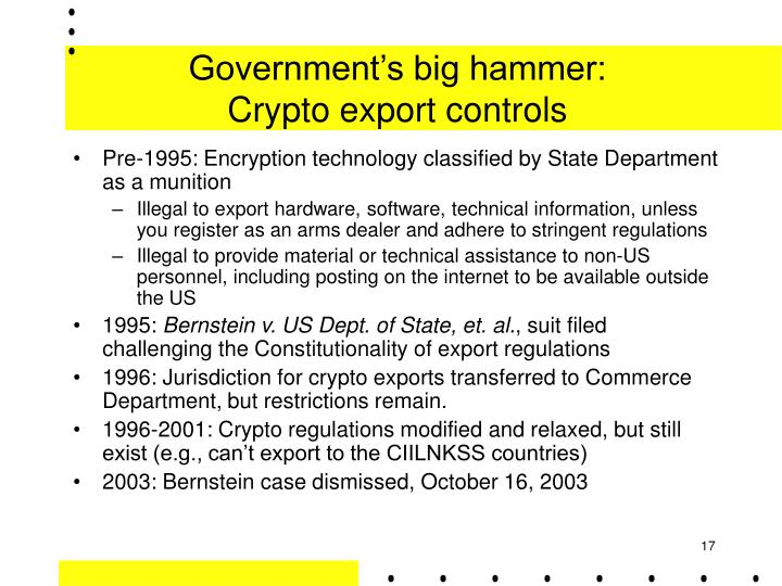 Government's big hammer: