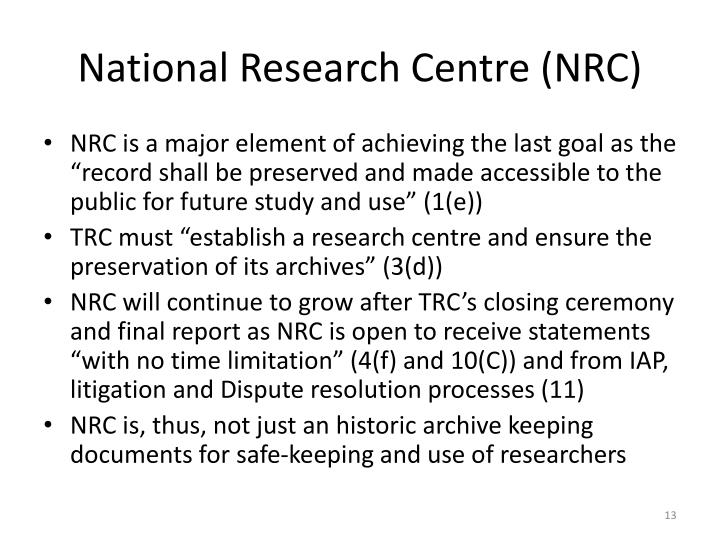 National Research Centre (NRC)