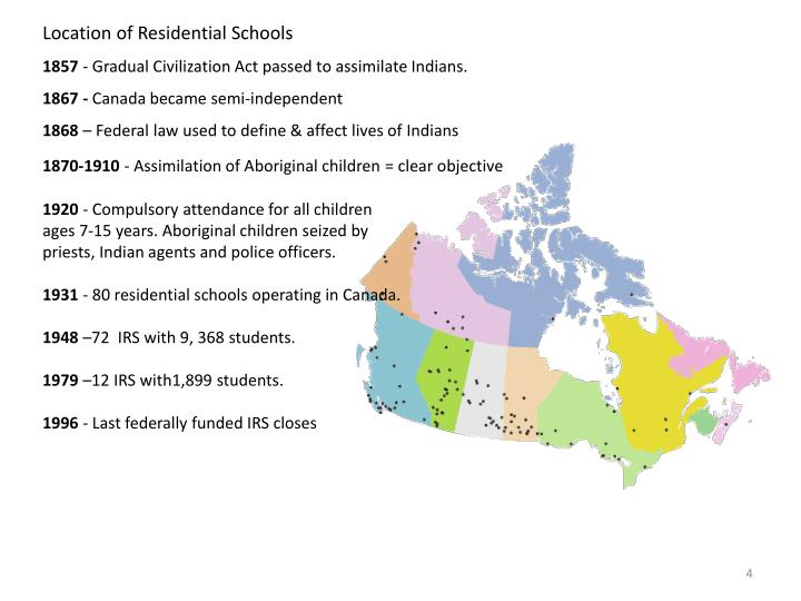 Location of Residential Schools
