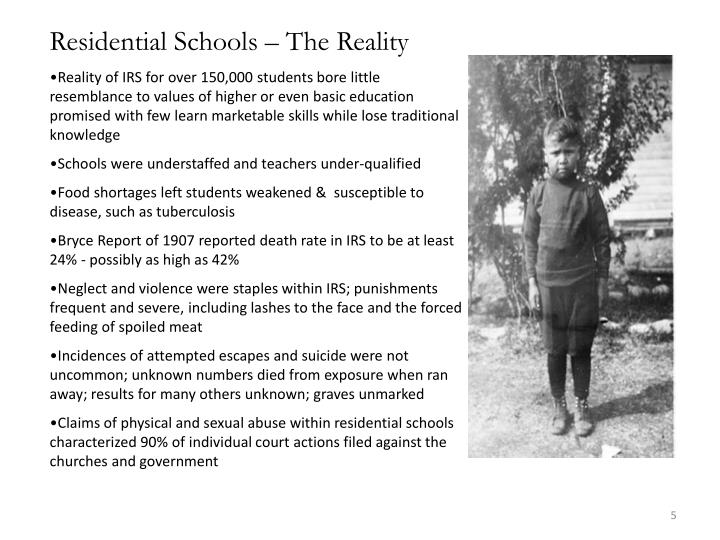 Residential Schools – The Reality