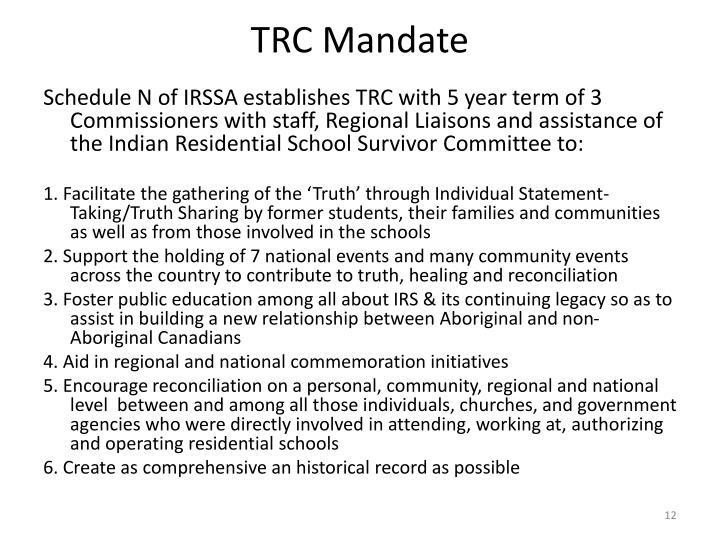 TRC Mandate