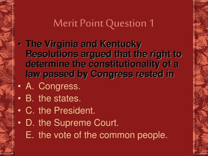 Merit Point Question 1