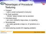 advantages of procedural texturing