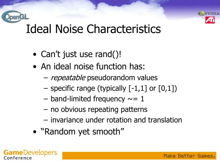 Ideal Noise Characteristics