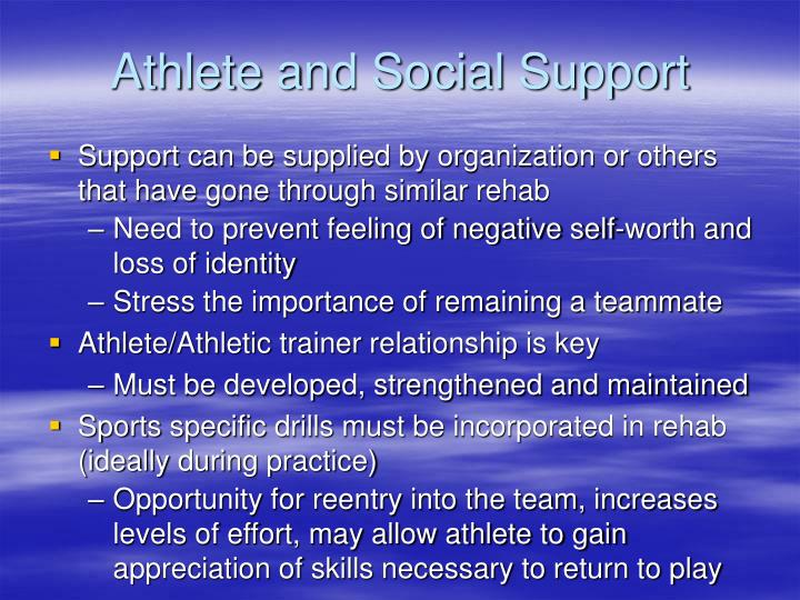 Athlete and Social Support