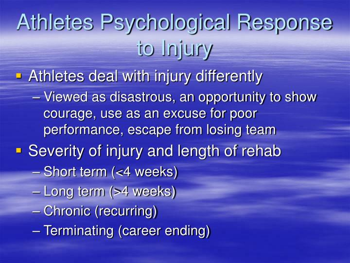 Athletes Psychological Response to Injury