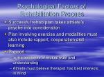 psychological factors of rehabilitation process