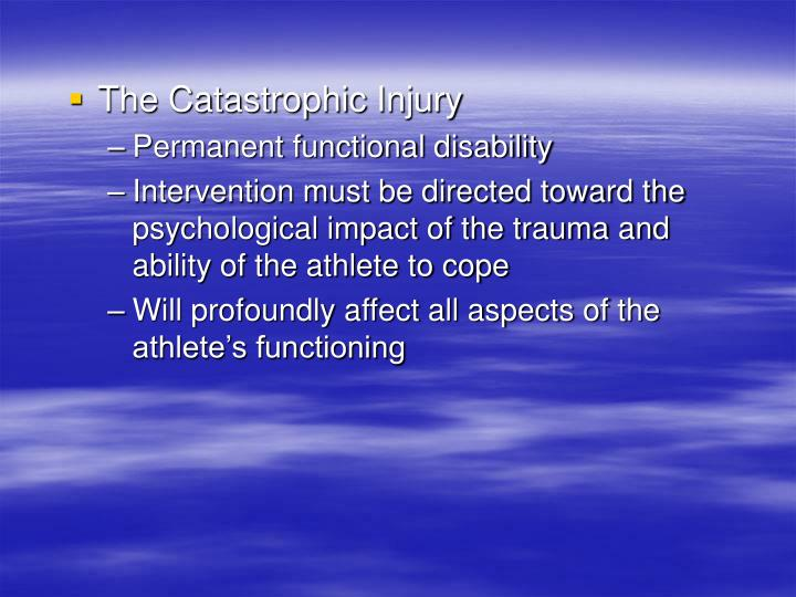 The Catastrophic Injury