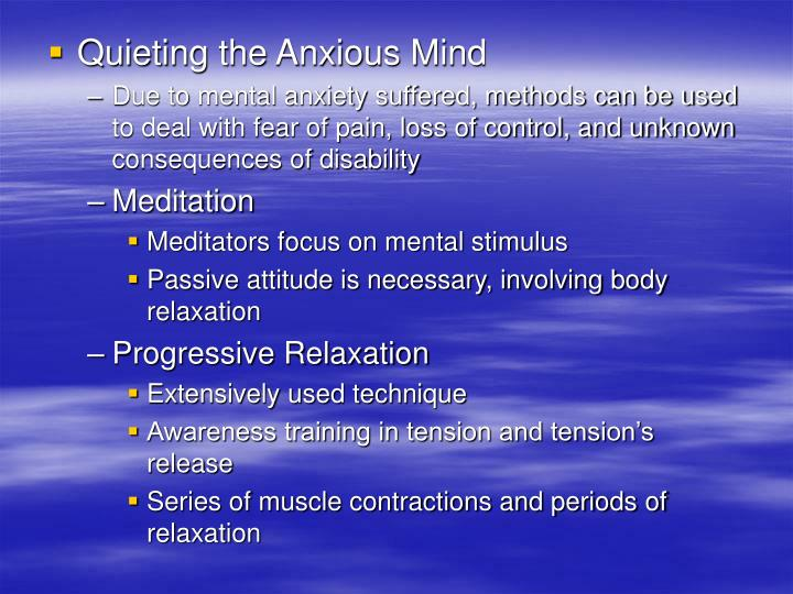 Quieting the Anxious Mind