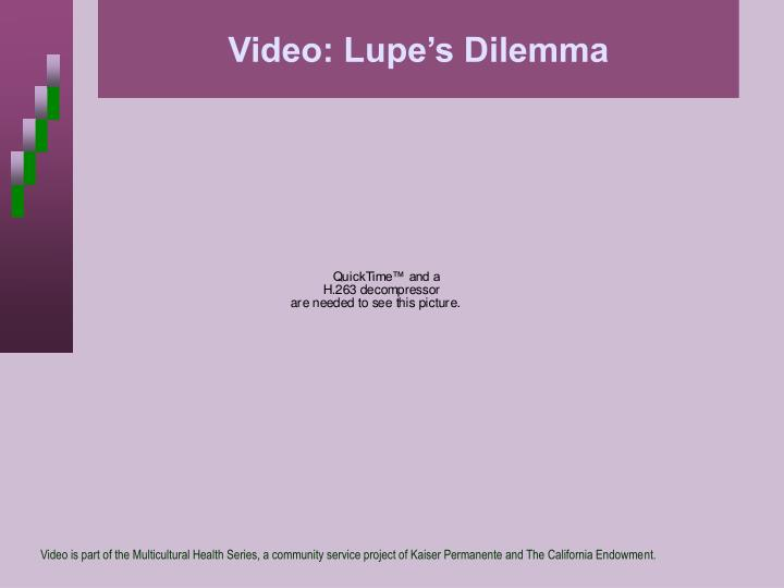 Video: Lupe's Dilemma