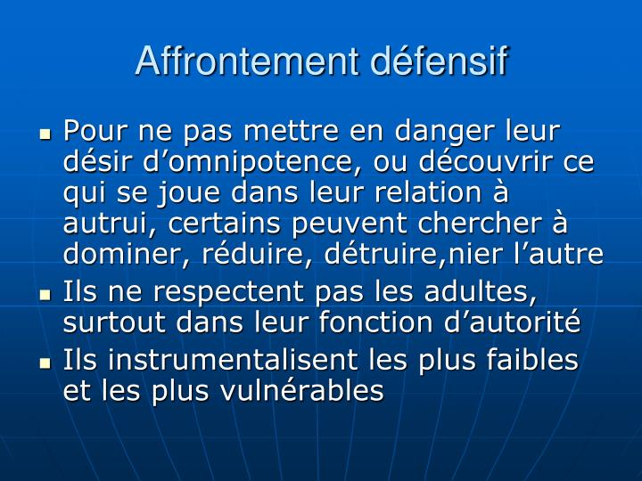 Affrontement dfensif