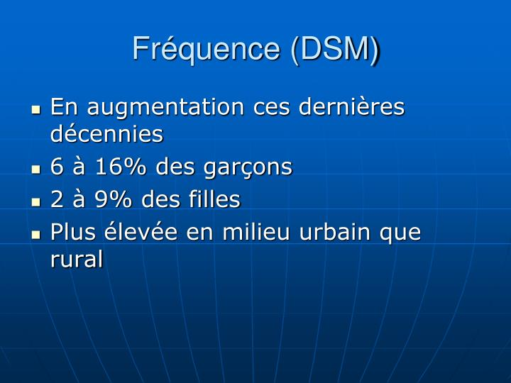 Fréquence (DSM)