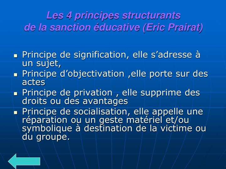 Les 4 principes structurants