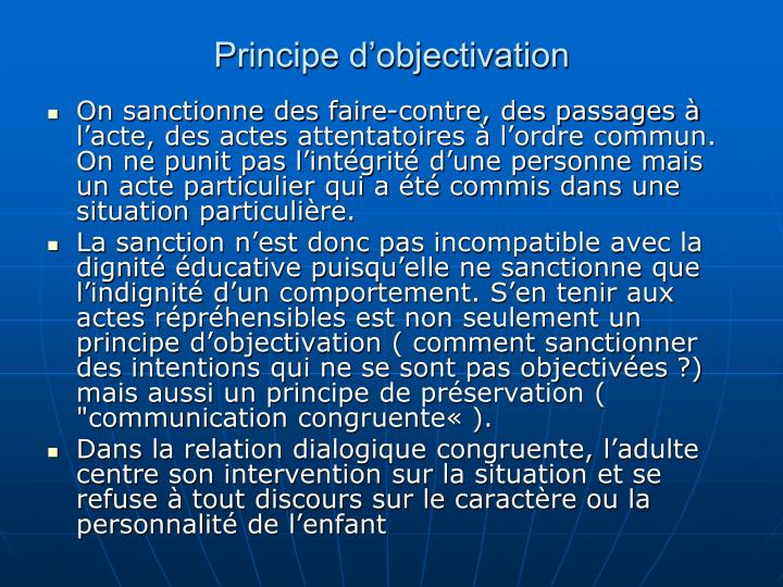 Principe dobjectivation