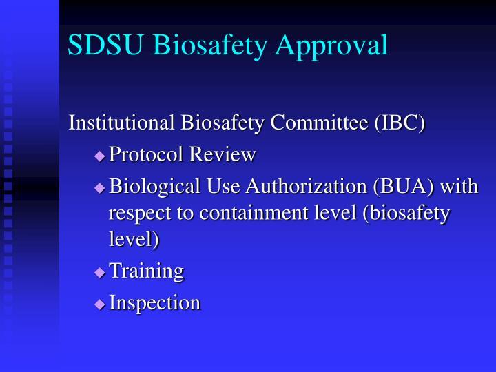 SDSU Biosafety Approval