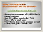 impact of sports and entertainment on the economy
