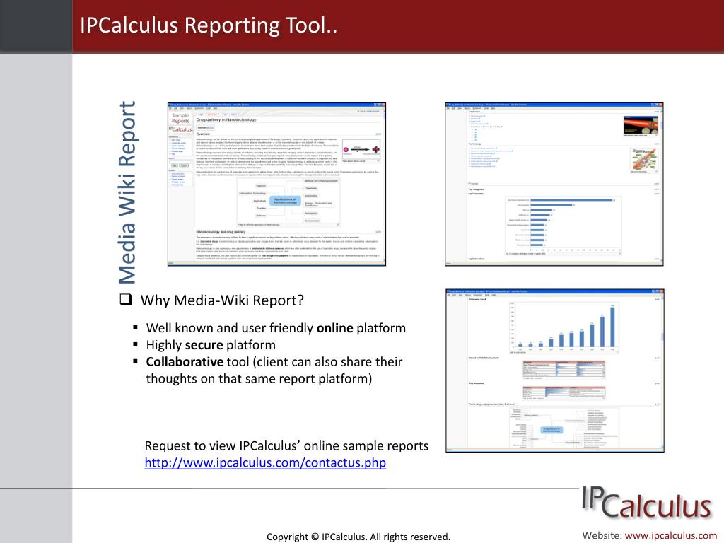 IPCalculus Reporting Tool..