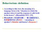 behaviorism d efinition