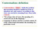 contextualism d efinition
