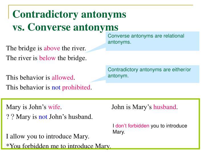 Contradictory antonyms