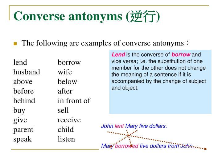 Converse antonyms (