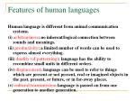 features of human languages