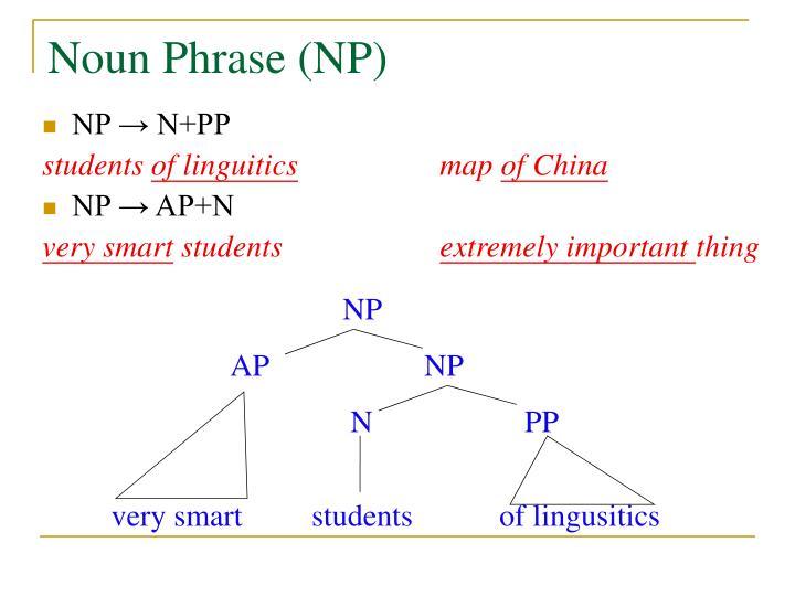 Noun Phrase (NP)