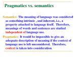 pragmatics vs semantics