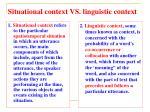 situational context vs linguistic context