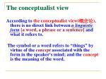 the conceptualist view