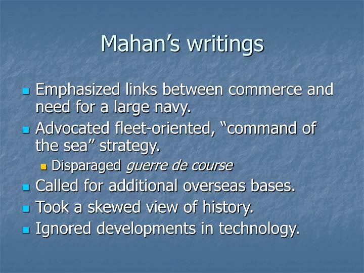 Mahan's writings