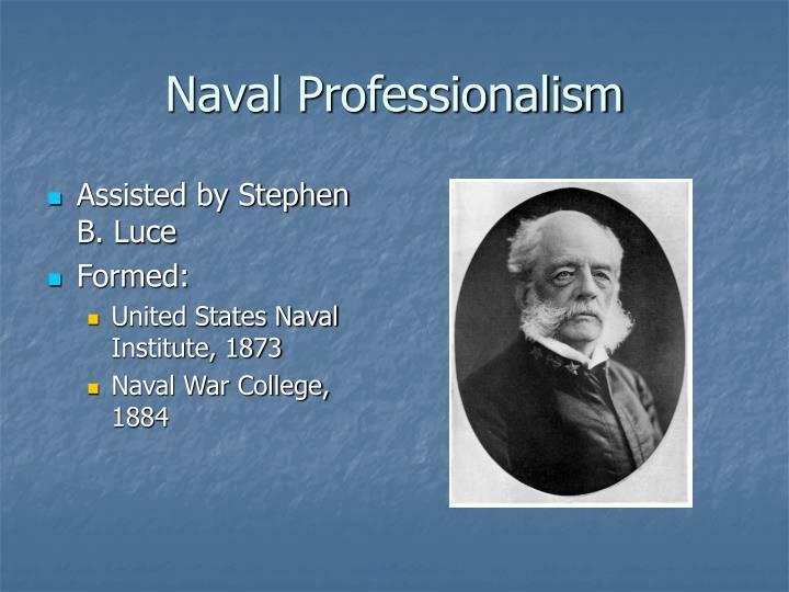 Naval Professionalism