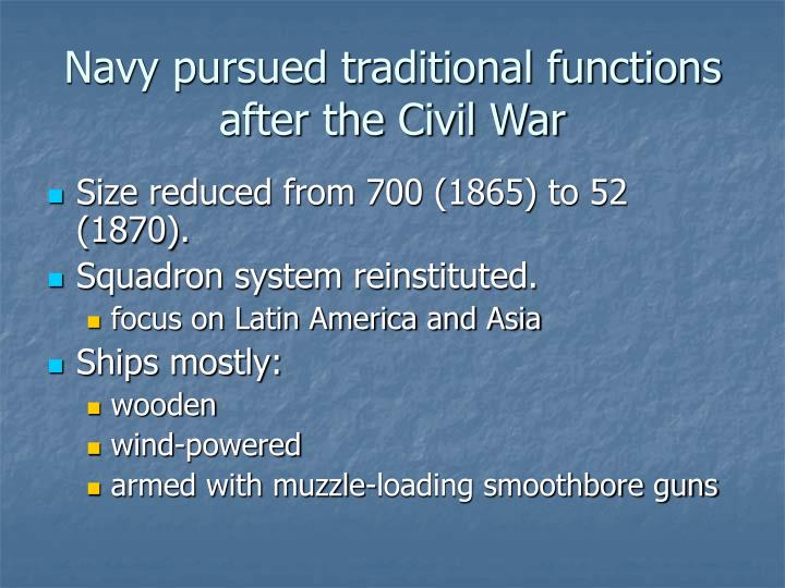 Navy pursued traditional functions after the Civil War