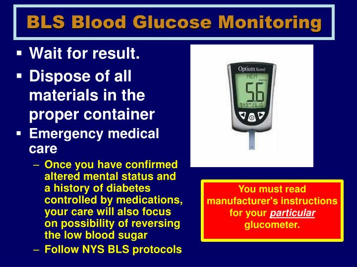 BLS Blood Glucose Monitoring