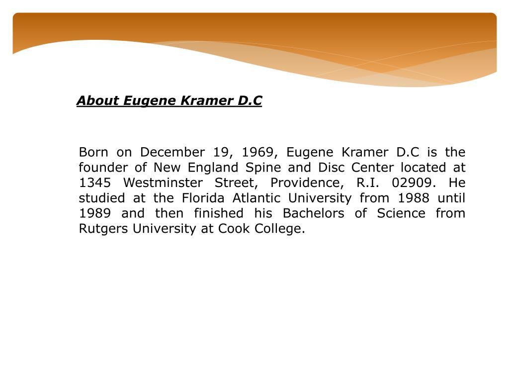 About Eugene Kramer D.C
