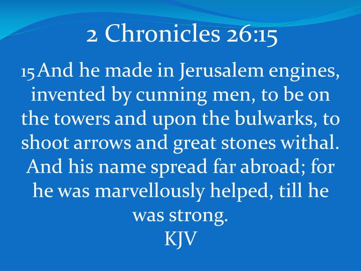 2 Chronicles 26:15