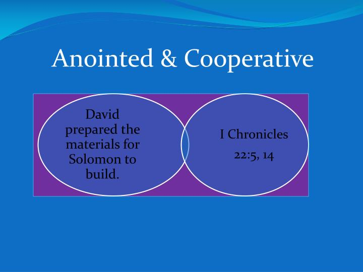 Anointed & Cooperative