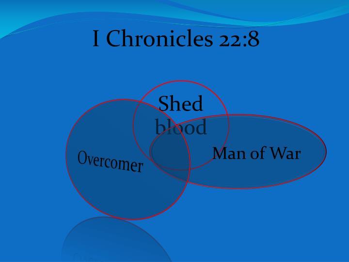 I Chronicles 22:8